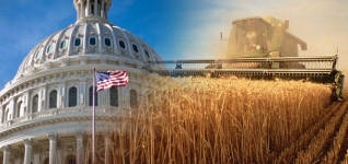 Capitol building with farm scene overlayed