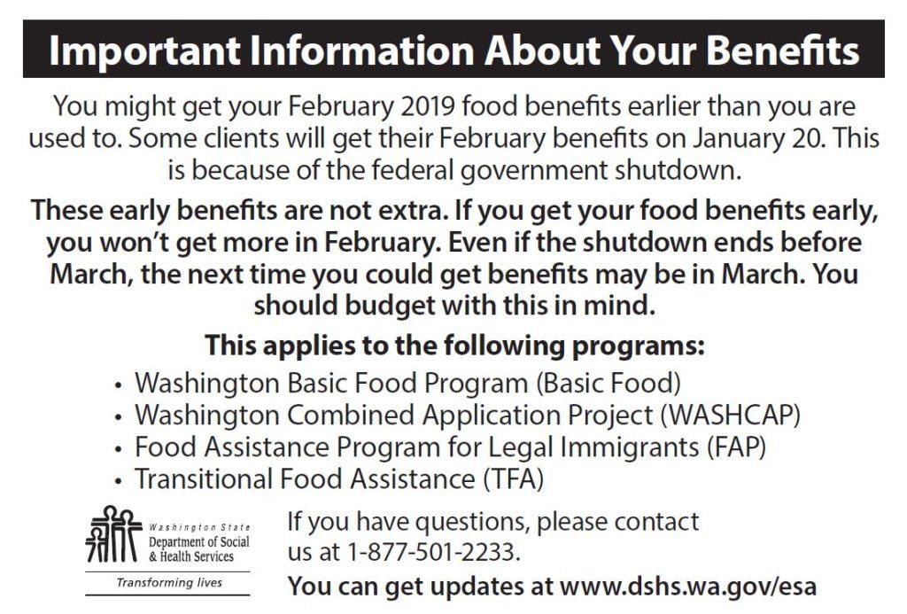 DSHS Shutdown Postcard